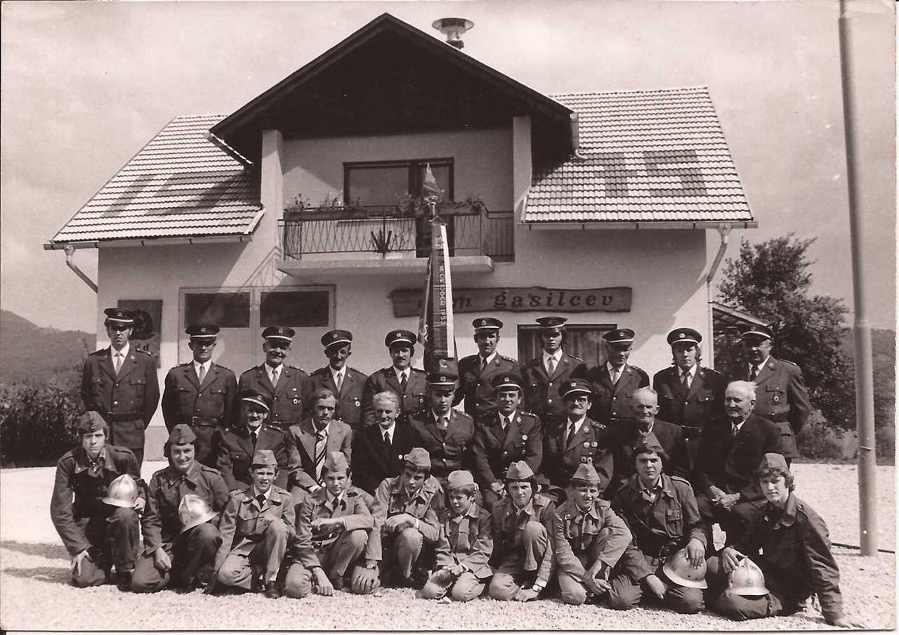 Nov gasilski dom leta 1975