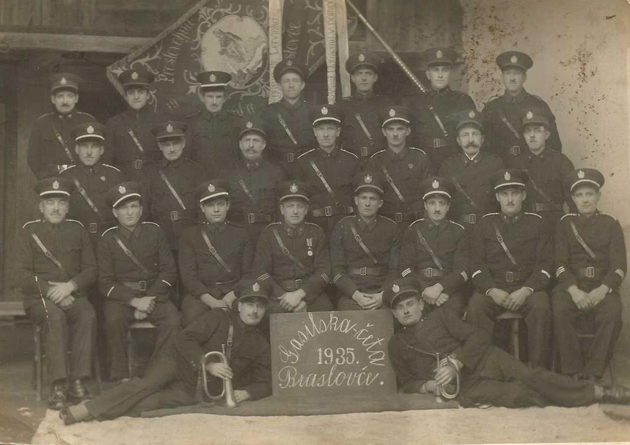 Gasilska četa Braslovče leta 1935